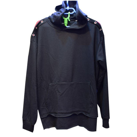 Black Men's Jumper With Hood