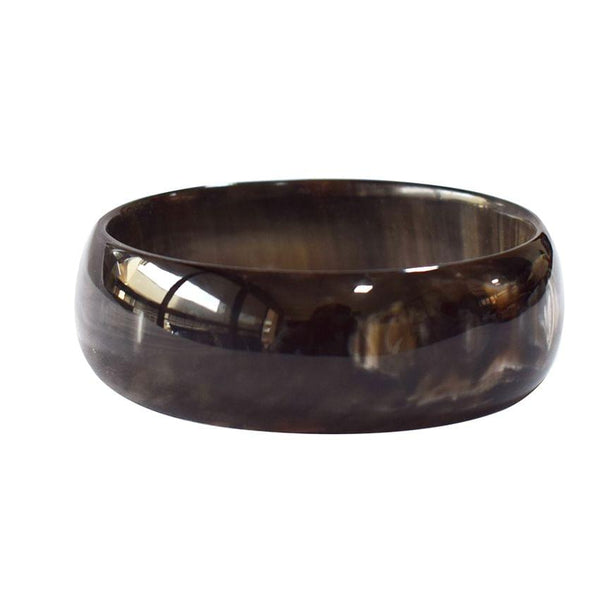 Cow Horn Black Bangle