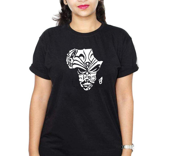 Africa 2 Black Ladies Round T-Shirt