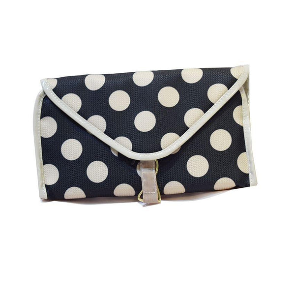 Cream And Black Makeup Bag