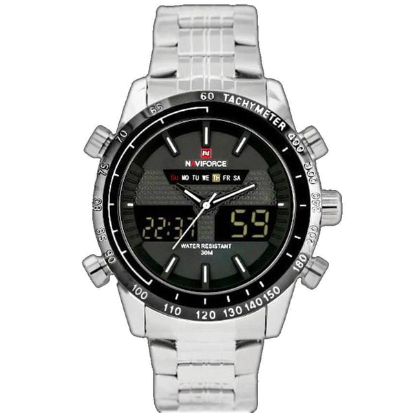 Naviforce Silver And Black Men's Watch