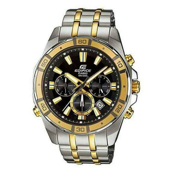 Edifice Casio Silver And Gold Men's Watch