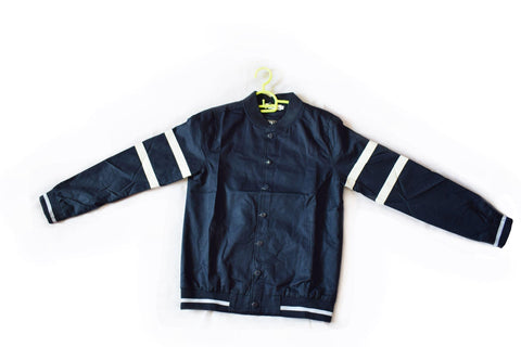 Navy Blue And White Ladies Jacket