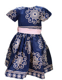 Baby Girl'S Navy Blue And Pink Tailored Dress (3-4Yrs)