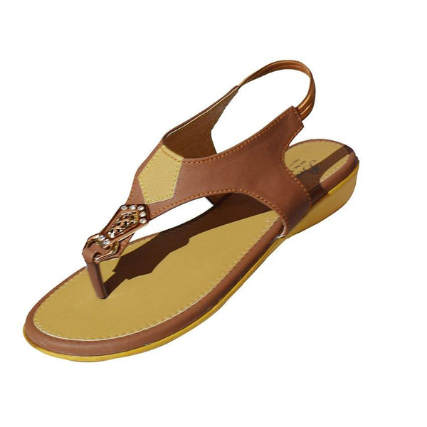 Beeba Brown Open Ladies Shoes