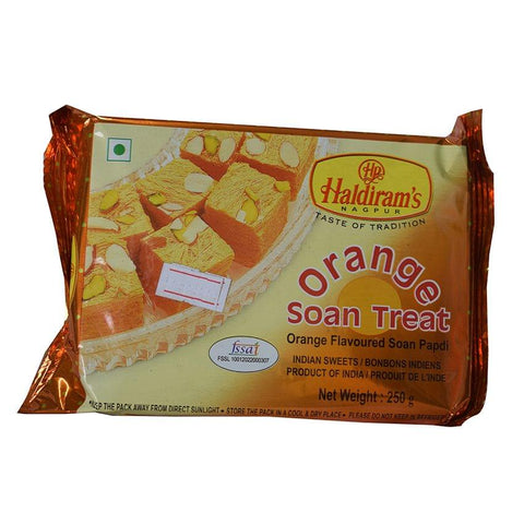 Haldiram's Orange Soan Treat 250 Gm