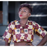 Multicolored Ladies Kitenge Buttoned Top