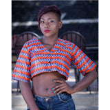 Ladies Kitenge Buttoned Top