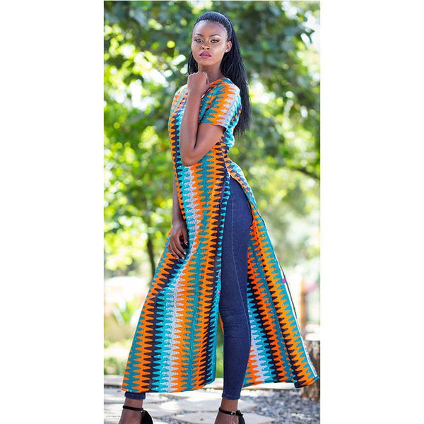 Long Slitted Kitenge Dress Top