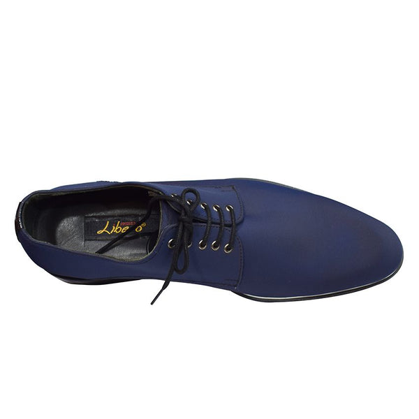 Libero Men's Blue Gentle Shoes And Matched Belt