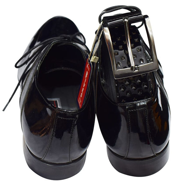 Rives Black Men's Gentle Shoes And Belt