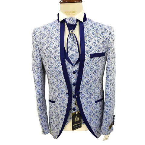 White And Blue Dotted Bridal Suit And Trouser