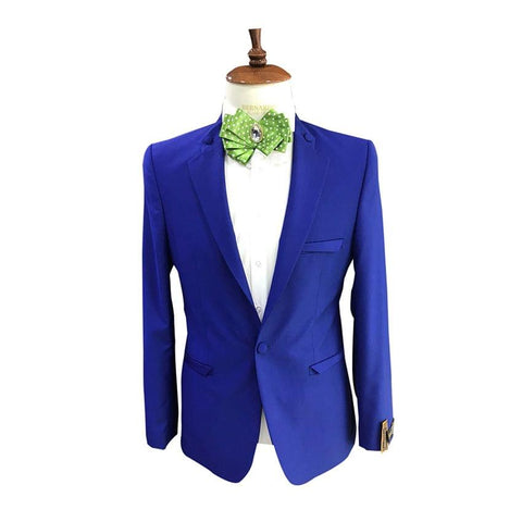 Blue Coat And White Shirt Men's Bridal Suit And Trouser