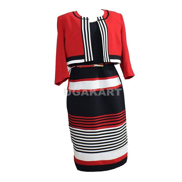 Red,White And Black Dress Suit