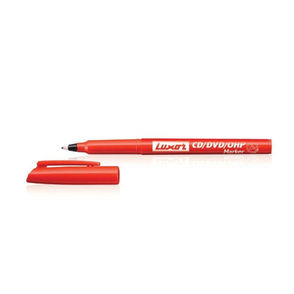 Luxor OHP Markers Red Pkt(10 Pcs)