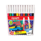 Luxor Sketch Pens (Water Color Marker) Pkt(12 Pcs)