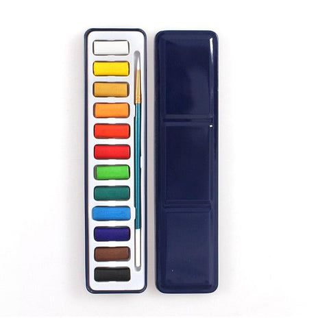 Water Colour 12 Pcs With Pvc Box Packing With Brush