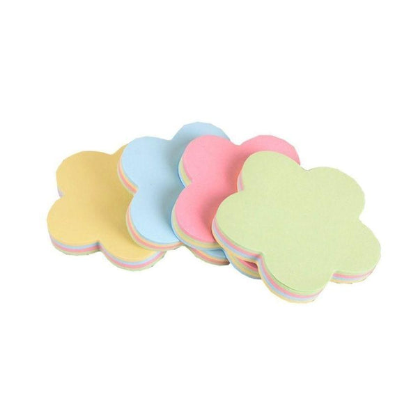 Sticky Notes 400 Pages Colours Flower Shape