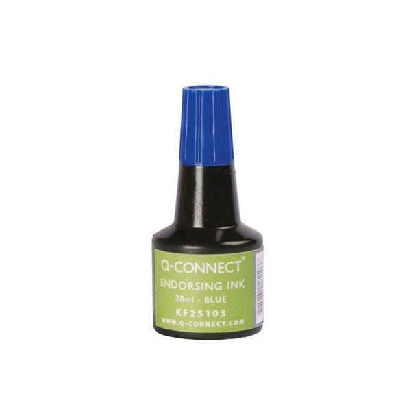 Q Connect 28Ml Endorsing Ink - Blue