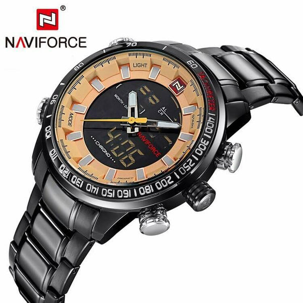Naviforce Designer Black Men's Watch