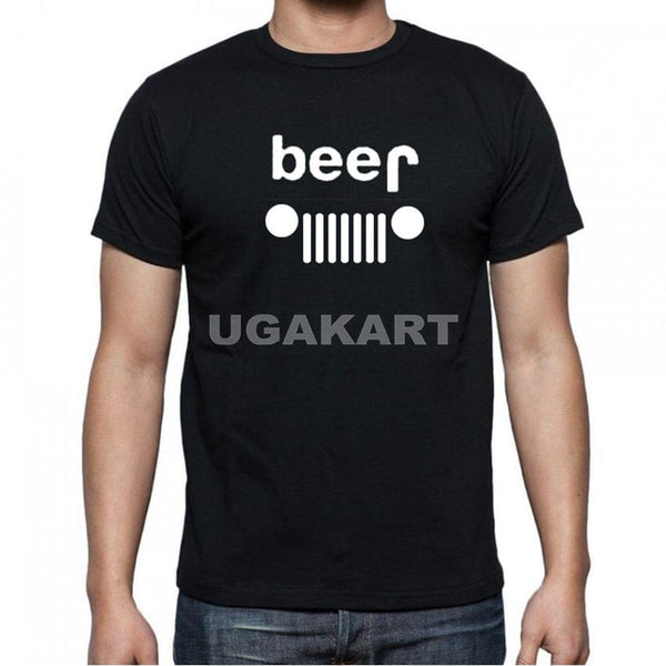 Beer 1 Black Men's Round Neck T-Shirt
