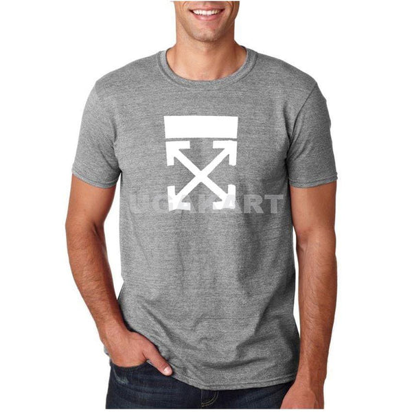 Grey Men'S Round Neck T-Shirt