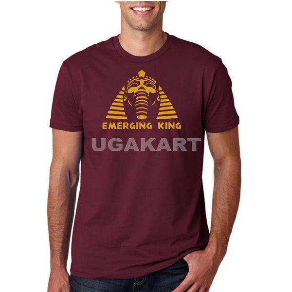 Emerging King Maroon Men's Round Neck T-Shirt