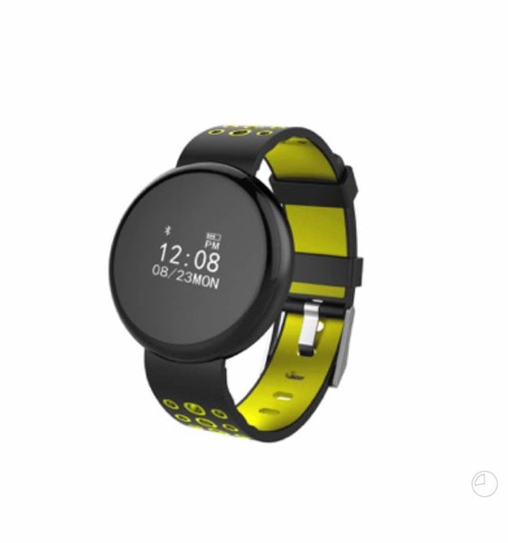 Black And Grass Green Smart Digital Fitness Watch