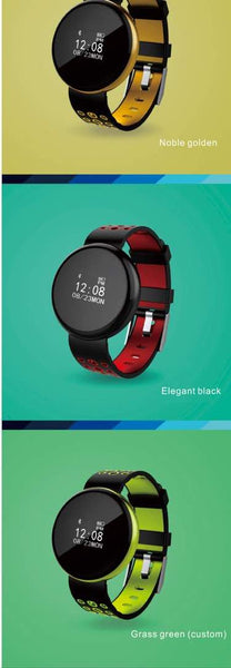 Black And Red Smart Digital Fitness Watch