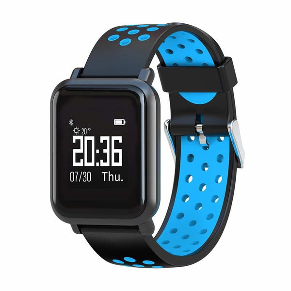 Black And Blue Square Model Smart Digital Fitness Watch
