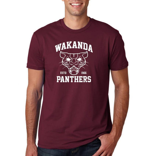 Wakanda Pathers Maroon Men's T-Shirt