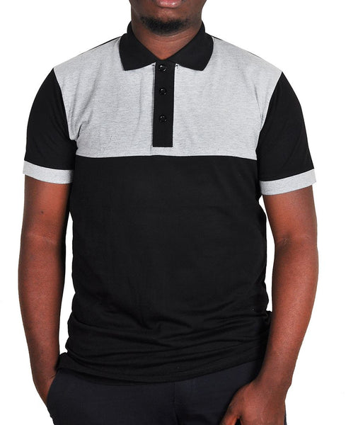 Black And Grey Men's Polo T-Shirt
