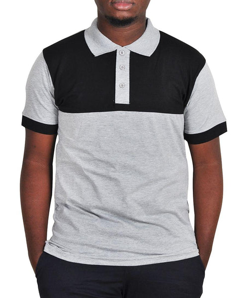 Grey And Black Men's Polo T-Shirt