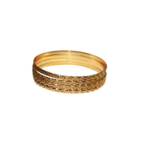 A Set Of Four Golden Bangles