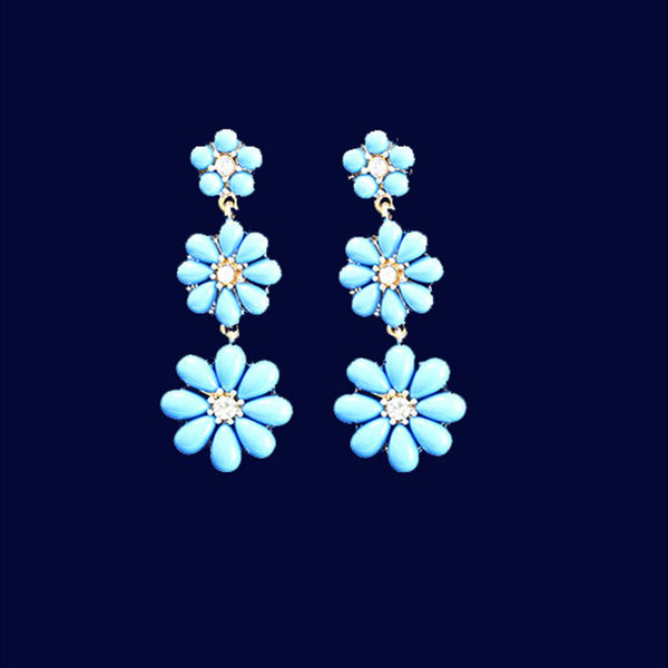 Earring With Sky Blue Stone