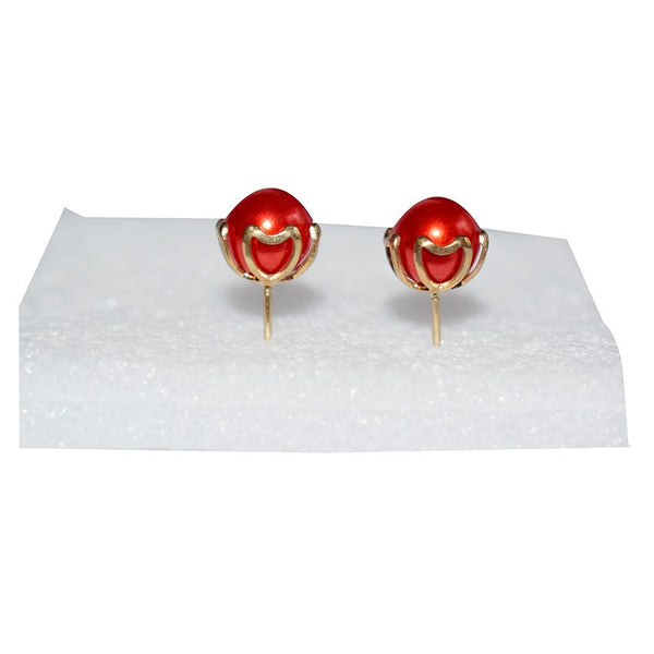Earring With Red Stone