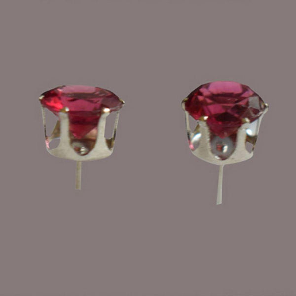 Earing With Red Diamond(Small Size)