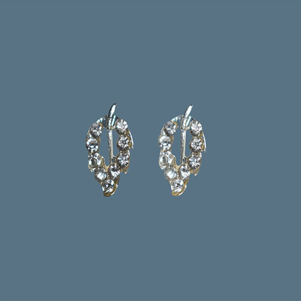 Earrings Leaf Shaped With Stones