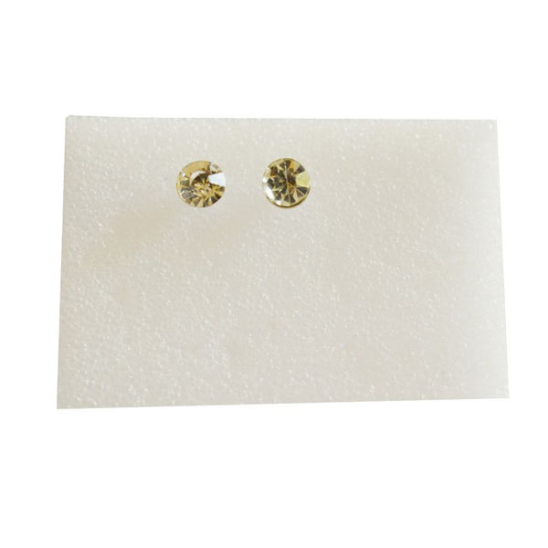 Small Earring With Gold Stone