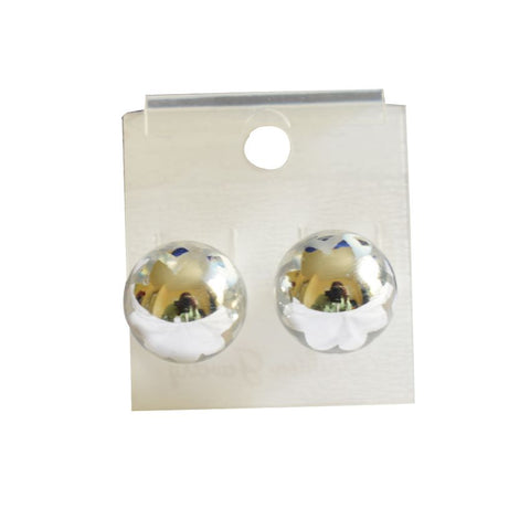 A Pair Of Silver Ball Shaped Ear Pins/Earring
