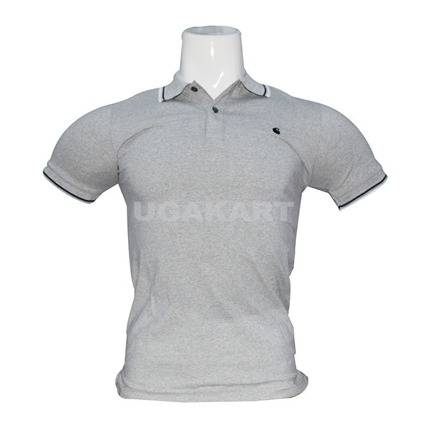 Grey T-Shirt With Collar