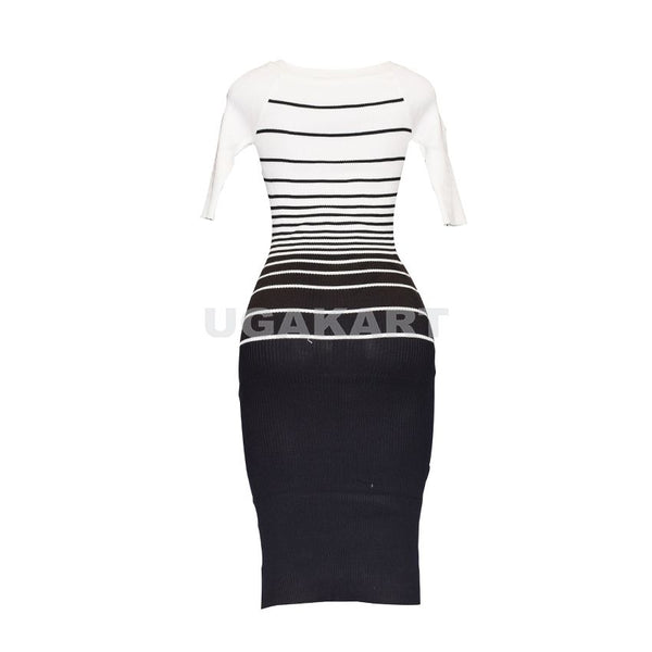 Black And White Ladies Dress (Free Size)