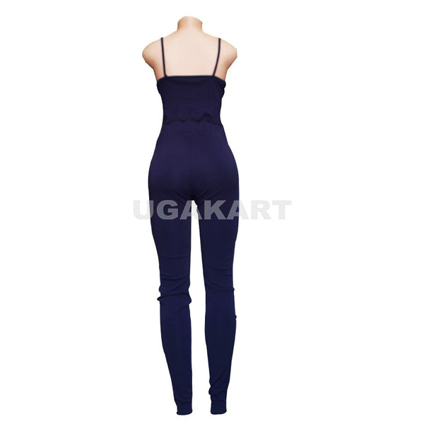 Navy Blue High & Low Top With Tight Pants Ladies Dress