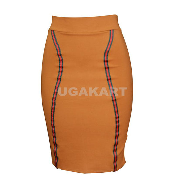 Dark Orange Tight Skirt/Tube