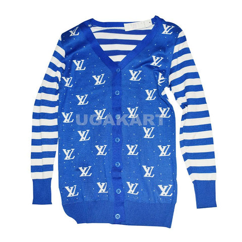 Louis Vuitton Blue And White Sweater