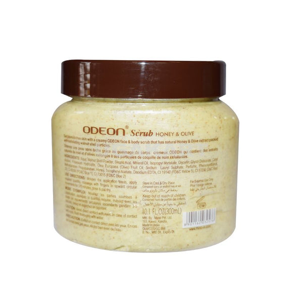 Odeon Face & Body Scrub Honey & Olive 300Ml