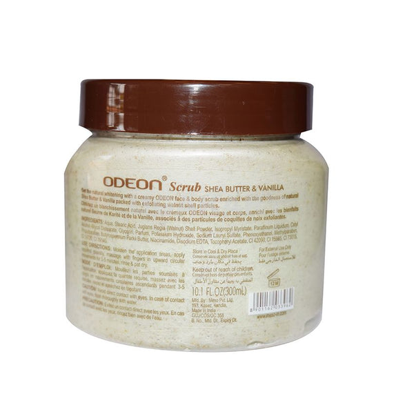 Odeon Face& Body Scrub Shea Butter & Vanilla 300Ml