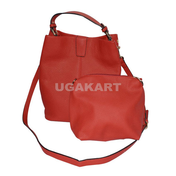 Set Of Two Red Ladies Hand Bag