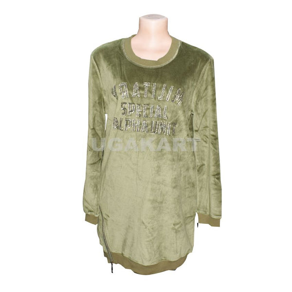 Army Green Swet Long Sleeve T-Shirt