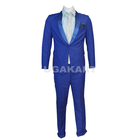 Single Button Blue Suit With Light  Blue Shirt
